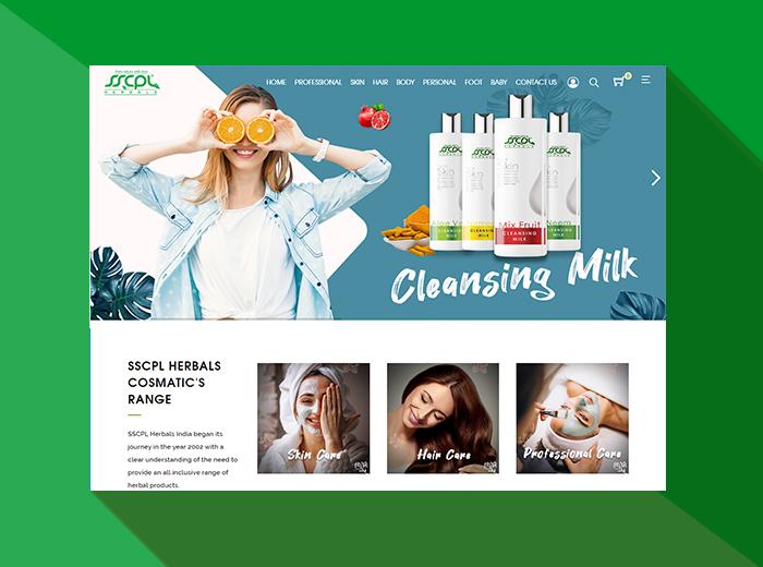 SSCPL Herbals Website
