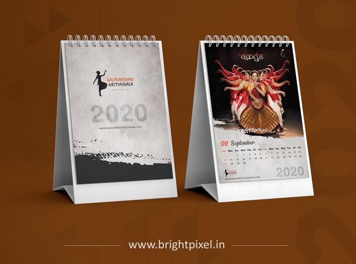 Kalavardhini Nrityashala Table Calendar