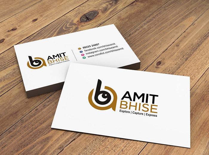 Amit Bhis Visiting card
